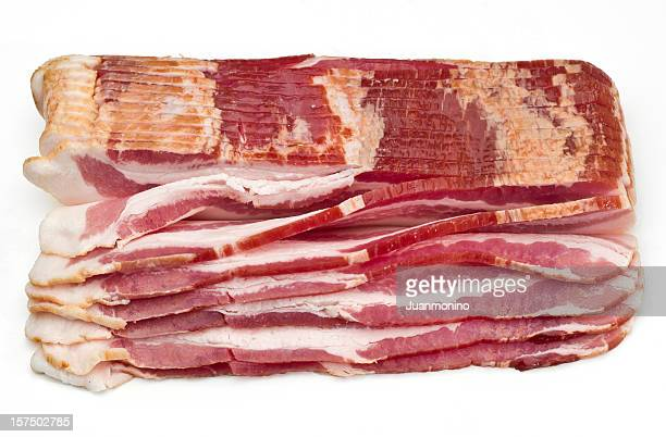 Raw Smoked Bacon Slices