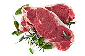 Raw Steaks with Herbs