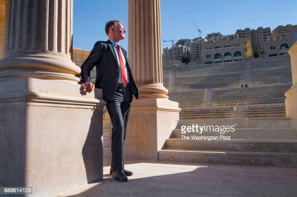 Rawabi founder Bashar Masri in the grand amphitheatre at his a highend multiuse development in Rawabi West Bank on April 4 2017 Rawabi is a city...
