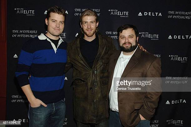 Rawson Marshall Thurber Jon Foster Thor Benander attends the Mysteries of Pittsburgh Premiere Party sponsored by Delta Air Elite at the Sky 360...