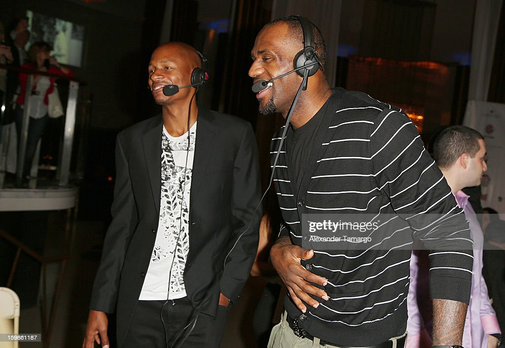 <a gi-track='captionPersonalityLinkClicked' href=/galleries/search?phrase=Ray+Allen&family=editorial&specificpeople=201511 ng-click='$event.stopPropagation()'>Ray Allen</a> and <a gi-track='captionPersonalityLinkClicked' href=/galleries/search?phrase=LeBron+James&family=editorial&specificpeople=201474 ng-click='$event.stopPropagation()'>LeBron James</a> attend the Second Annual 'South Beach Battioke' to Benefit The Battier Take Charge Foundation at Eden Roc Hotel on January 21, 2013 in Miami Beach, Florida.