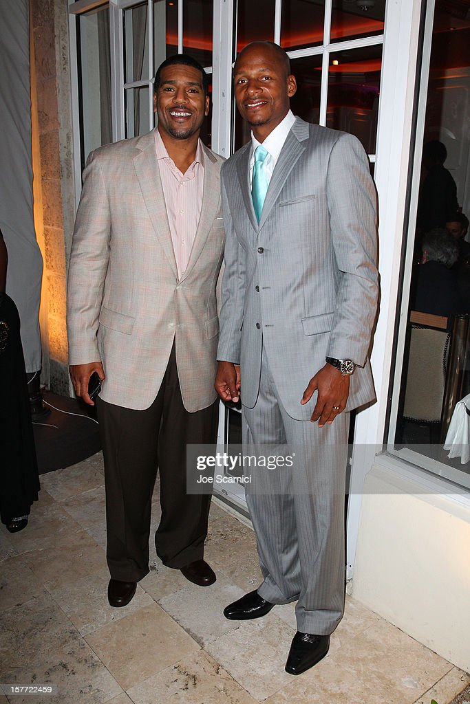 Ray Allen (R) attends the Haute Living and Roger Dubuis dinner hosted by Daphne Guinness at Azur on December 5, 2012 in Miami Beach, Florida.