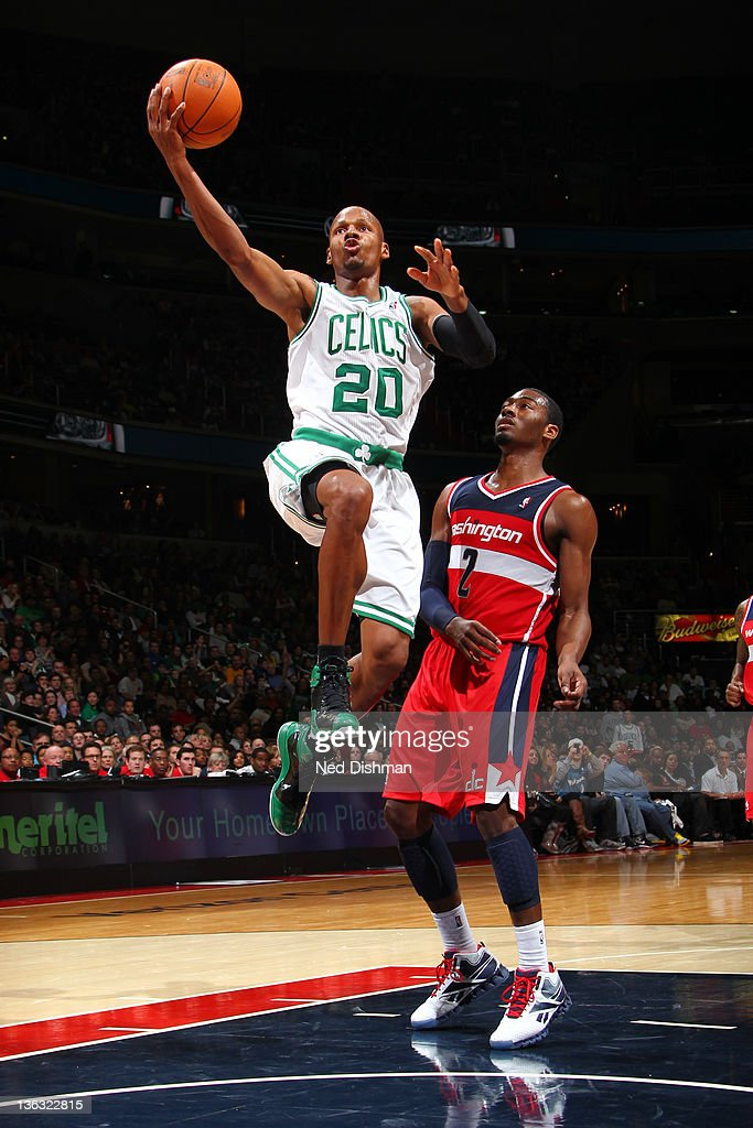 <a gi-track='captionPersonalityLinkClicked' href=/galleries/search?phrase=Ray+Allen&family=editorial&specificpeople=201511 ng-click='$event.stopPropagation()'>Ray Allen</a> #20 of the Boston Celtics shoots against <a gi-track='captionPersonalityLinkClicked' href=/galleries/search?phrase=John+Wall&family=editorial&specificpeople=2265812 ng-click='$event.stopPropagation()'>John Wall</a> #2 of the Washington Wizards during the game at the Verizon Center on January 1, 2012 in Washington, DC.