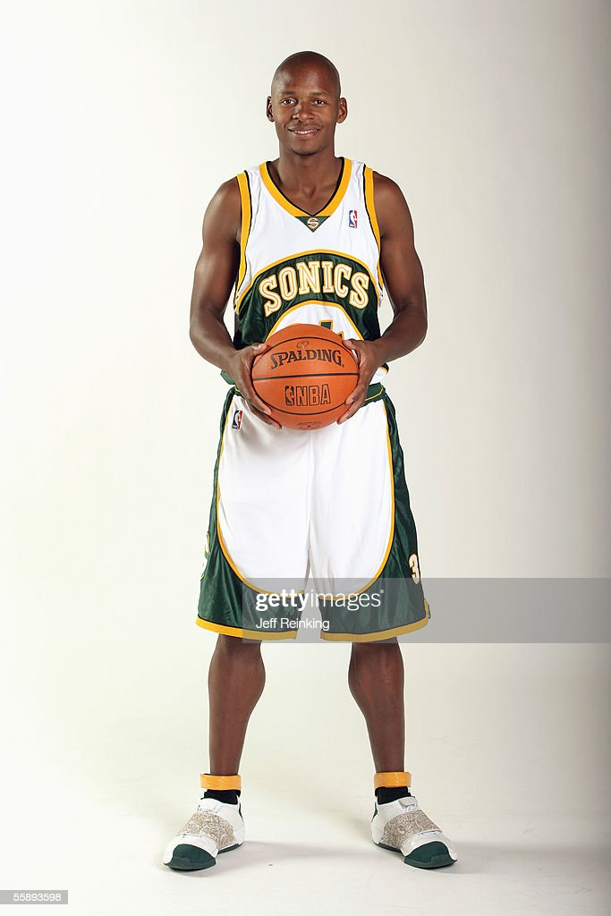 <a gi-track='captionPersonalityLinkClicked' href=/galleries/search?phrase=Ray+Allen&family=editorial&specificpeople=201511 ng-click='$event.stopPropagation()'>Ray Allen</a> #34 of the Seattle Sonics poses for a portrait during Sonics Media Day on October 3, 2005 in Seattle, Washington.