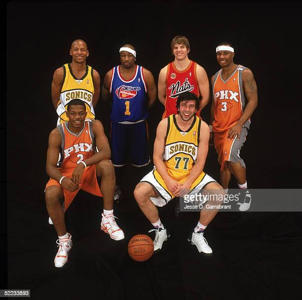 Ray Allen of the Seattle Sonics Voshon Lenard of the Denver Nuggets Kyle Korver of the Philadelphia 76ers Quentin Richardson and Joe Johnson of the...