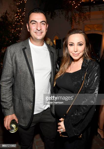 Ray Attipa and Diana Madison at the grand opening of the new Ken Paves Salon hosted by Eva Longoria on October 23 2017 in Los Angeles California