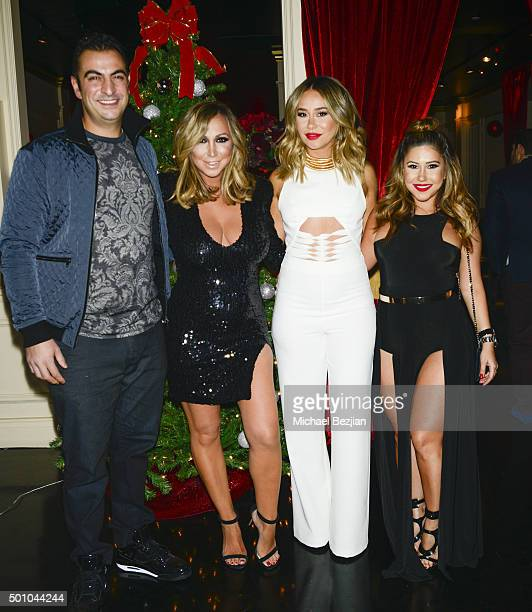 Ray Attipa Diana Madison Nora Mansour and Ani Esmailian at 2015 Obsev Studios Holiday Party on December 11 2015 in Los Angeles California