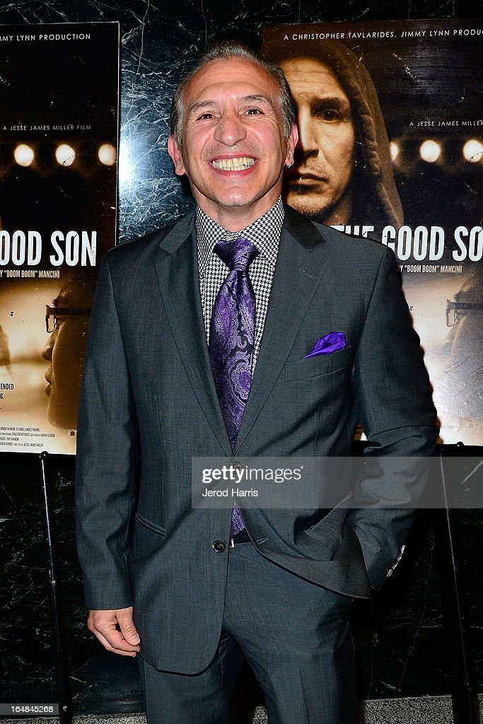 Ray 'Boom Boom' Mancini arrives at the Los Angeles premiere of 'The Good Son' at Linwood Dunn Theater at the Pickford Center for Motion Study on March 28, 2013 in Hollywood, California.