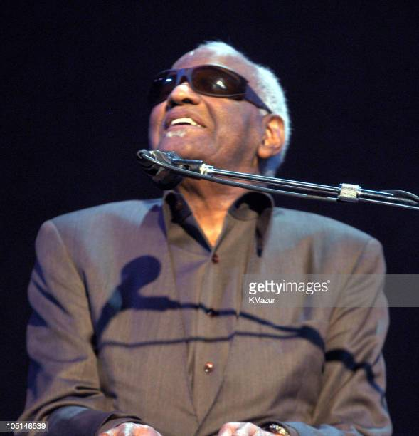 Ray Charles at Jazz at Lincoln Center's 'Blowin' the Blues Away' June 2nd spring gala at the Apollo in New York