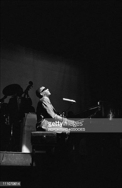 Ray Charles behind the scence at the Olympia in Paris France on May 18 1962