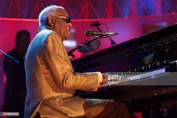 Ray Charles during 15th Annual Rock and Roll Hall of Fame Induction Ceremony 2000 at Waldorf=Astoria in New York New York United States