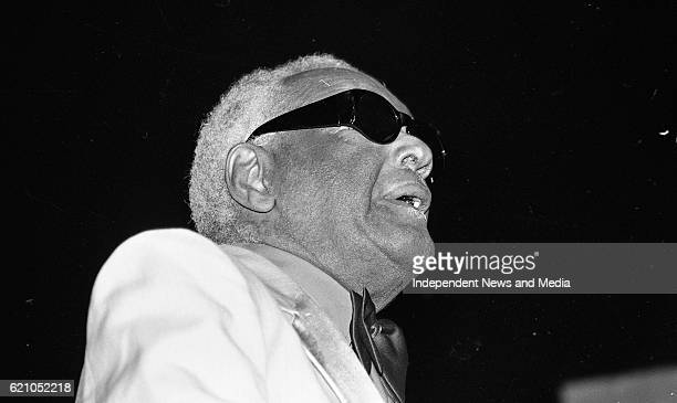Ray Charles in concert at the Point Depot Dublin
