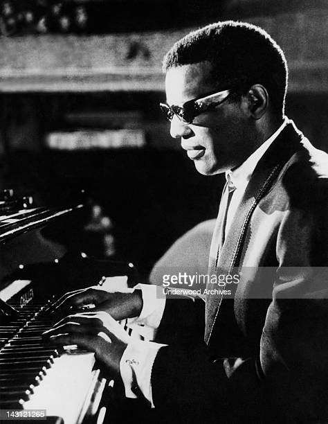 Ray Charles makes his film debut Dublin Ireland July 11 1964 He is at the piano during the filming of Alexander Salkind's production 'Ballad In Blue'...