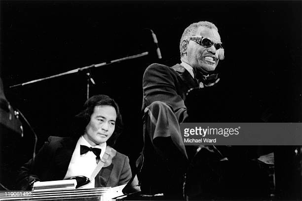 Ray Charles performing at the Knebworth Capital Radio Jazz Festival Britain