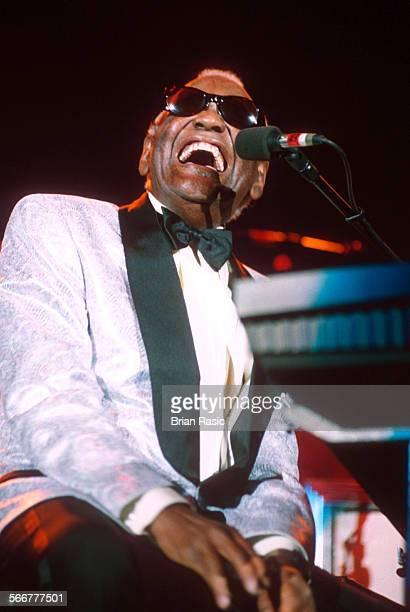 Ray Charles Performing At The Wembley Arena London Britain 1996 Ray Charles