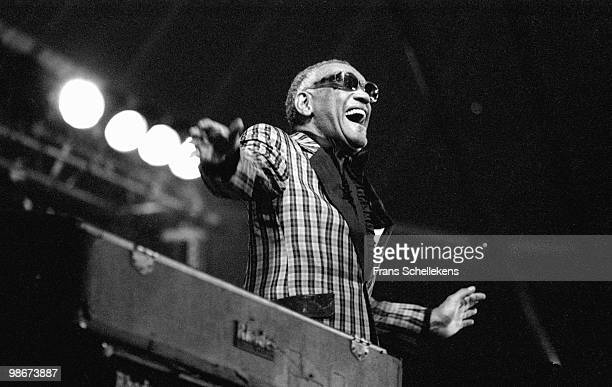 Ray Charles performs live on stage at the North Sea Jazz Festival in The Hague Holland on July 14 1985