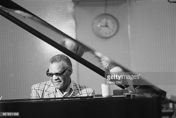 Ray Charles Playing Piano