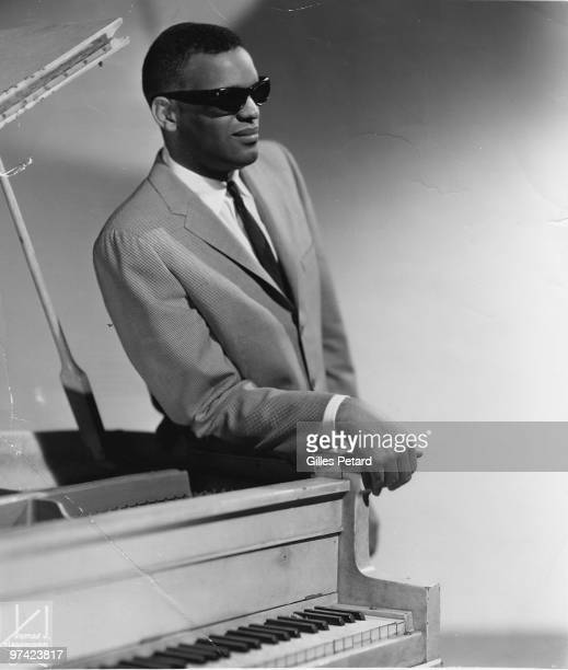 Ray Charles poses for a studio portrait in 1956 in the United States