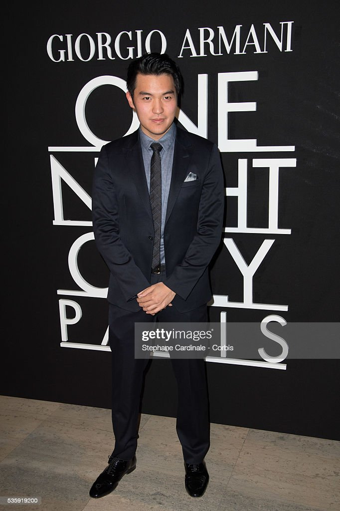 Ray Chen attends the Giorgio Armani Prive show as part of Paris Fashion Week Haute Couture Spring/Summer 2014, at Palais de tokyo in Paris.