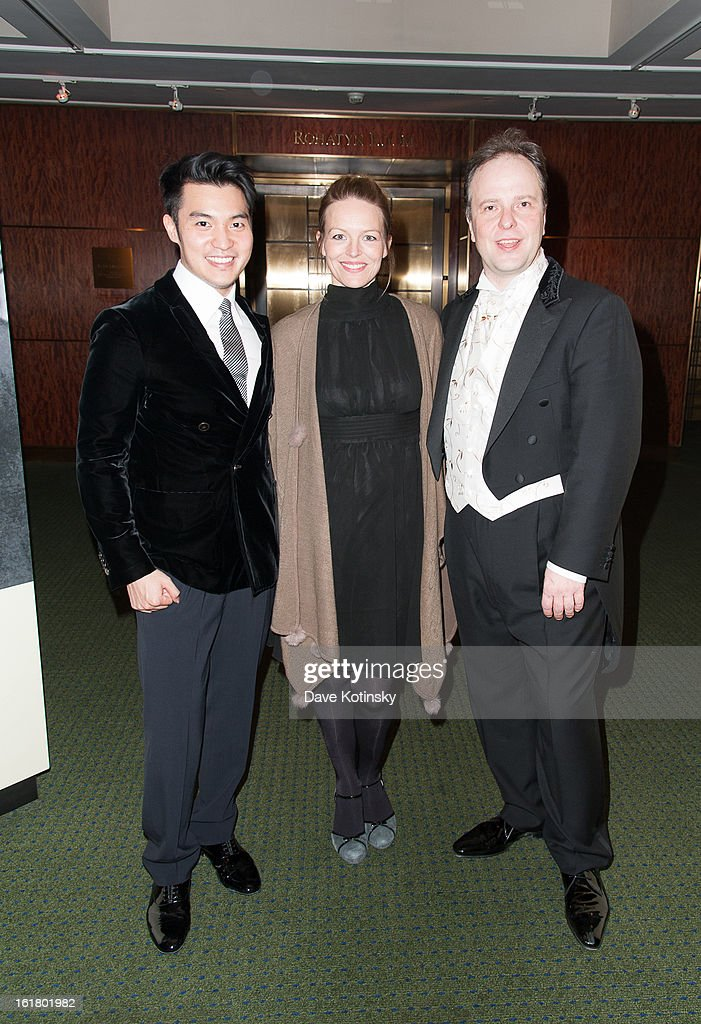 Ray Chen, Sakari Oramo and Elin Rombo attends Stockholm Concert Hall Foundation Presents: The Royal Stockholm Philharmonic Orchestra at Carnegie Hall on February 15, 2013 in New York City.