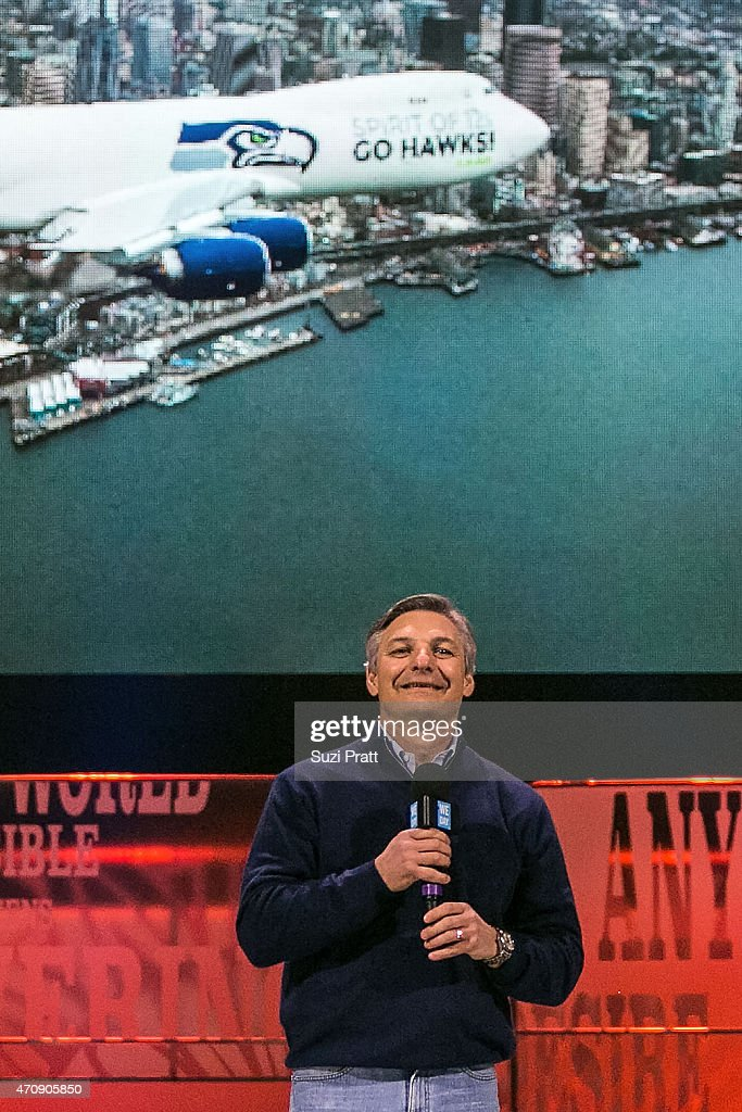Ray Conner CEO of Boeing Commercial Airplanes speaks at We Day at KeyArena on April 23 2015 in Seattle Washington