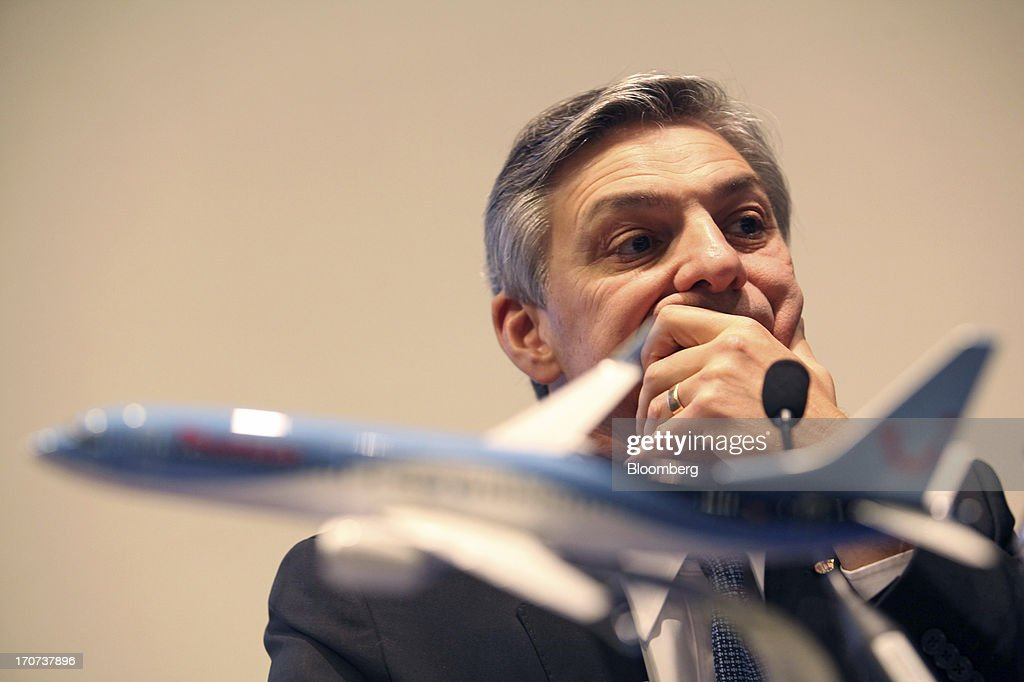 Ray Conner, chief executive officer of Boeing Commercial Airplanes, pauses during a news conference on the first day of the Paris Air Show in Paris, France, on Monday, June 17, 2013. The 50th International Paris Air Show is the world's largest aviation and space industry show, and takes place at Le Bourget airport June 17-23. Photographer: Balint Porneczi/Bloomberg via Getty Images