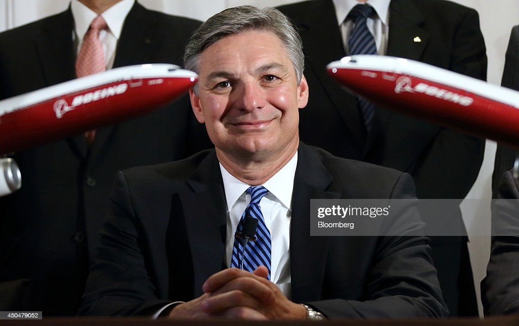 <a gi-track='captionPersonalityLinkClicked' href=/galleries/search?phrase=Ray+Conner&family=editorial&specificpeople=7660065 ng-click='$event.stopPropagation()'>Ray Conner</a>, president and chief executive officer of Boeing Commercial Airplanes, poses for photographs during a news conference in Tokyo, Japan, on Thursday, June 12, 2014. Boeing retained the work of Mitsubishi Heavy Industries Ltd. and Kawasaki Heavy Industries Ltd. and said five Japanese companies will build 21 percent of its latest widebody jet 777X. Photographer: Tomohiro Ohsumi/Bloomberg via Getty Images