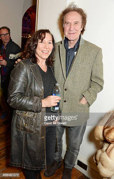 Ray Davies and guest attend the private view of 'Chris Stein/Negative Me Blondie and the Advent of Punk' at Somerset House on November 5 2014 in...