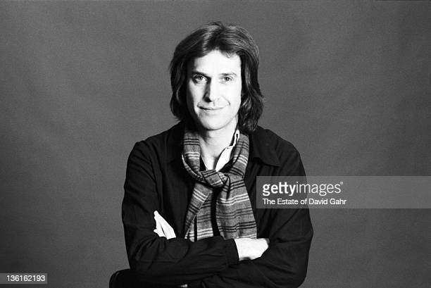 Ray Davies of the English rock group The Kinks poses for a portrait in February 1977 in New York City New York