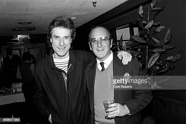 Ray Davies of The Kinks and Clive Davis backstage at a Kinks show at Madison Square Garden in New York City on October 3 1981