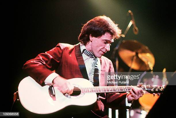 Ray Davies of The Kinks performs on stage Boston 1982