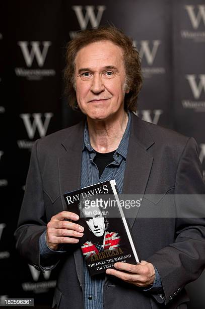 Ray Davies signs copies of his autobiography 'Americana The Kinks The Riff The Road' at Waterstones Piccadilly on October 1 2013 in London England