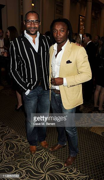 Ray Duhaney and Freddie Achom attend the Tatler Restaurant Awards 2011 at The Langham Hotel on May 9 2011 in London England