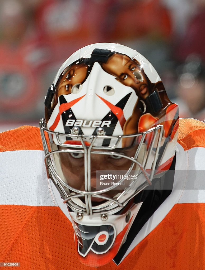 <a gi-track='captionPersonalityLinkClicked' href=/galleries/search?phrase=Ray+Emery&family=editorial&specificpeople=218109 ng-click='$event.stopPropagation()'>Ray Emery</a> #29 of the Philadelphia Flyers skates in warmups prior to a preseason game against the Detroit Red Wings at the Wachovia Center on September 22, 2009 in Philadelphia, Pennsylvania.