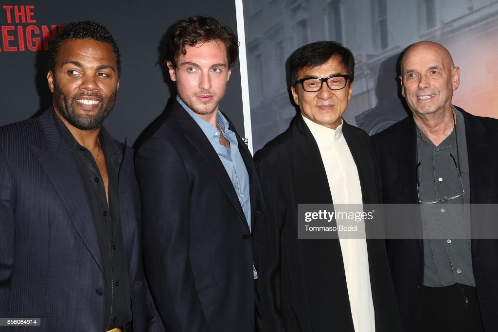 Ray Fearon, Rory Fleck Byrne, Jackie Chan and Martin Campbell attend the Premiere Of STX Entertainment's 'The Foreigner' at ArcLight Hollywood on October 5, 2017 in Hollywood, California.