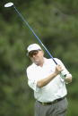 Ray Floyd hits a shot during the second round of the Senior PGA Championship at the Aronimink Golf Club on June 6 2003 in Newtown Square Pennsylvania