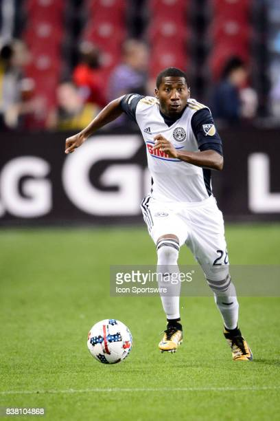 Ray Gaddis of Philadelphia Union with the ball during the first half of the MLS Soccer regular season game between Toronto FC and Philadelphia Union...