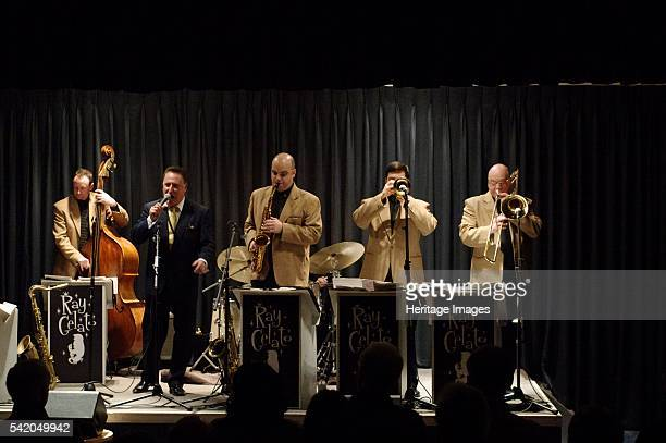 Ray Gelato George Hogg Andy Rogers and Olly Wilby Watermill Jazz Club Dorking Surrey Jan 2016 Artist Brian O'Connor
