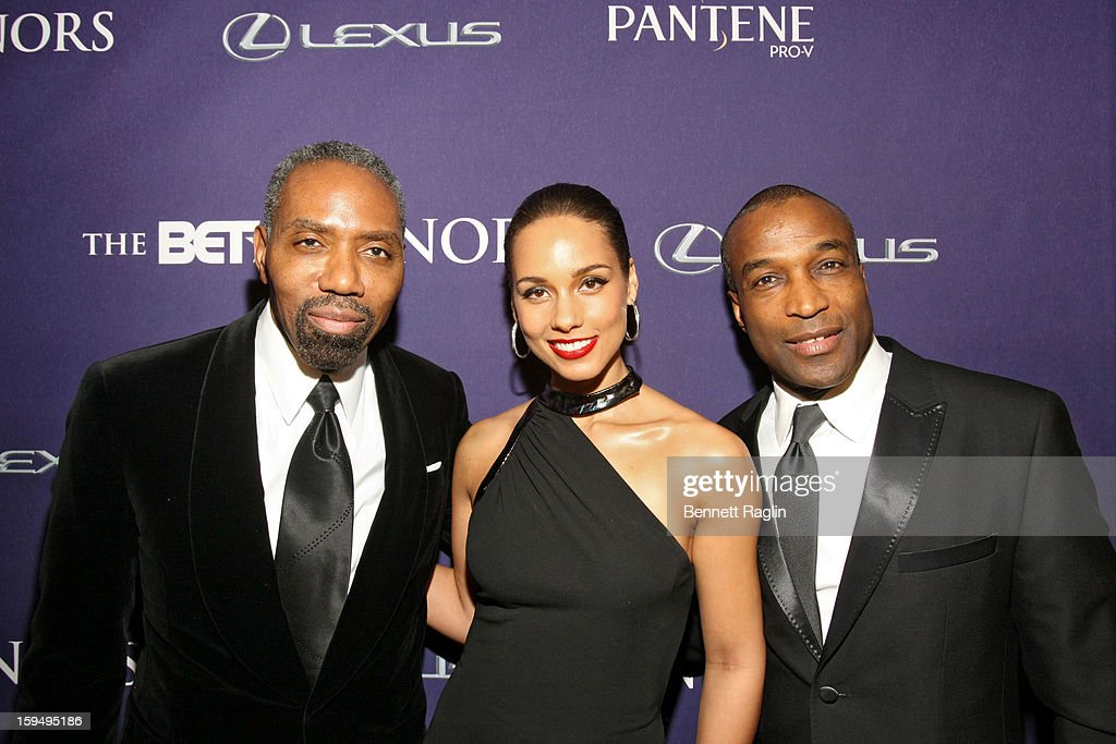 Ray Goulbourne; Alicia Keys and Louis Carr attend BET Honors 2013: Red Carpet Presented By Pantene at Warner Theatre on January 12, 2013 in Washington, DC.