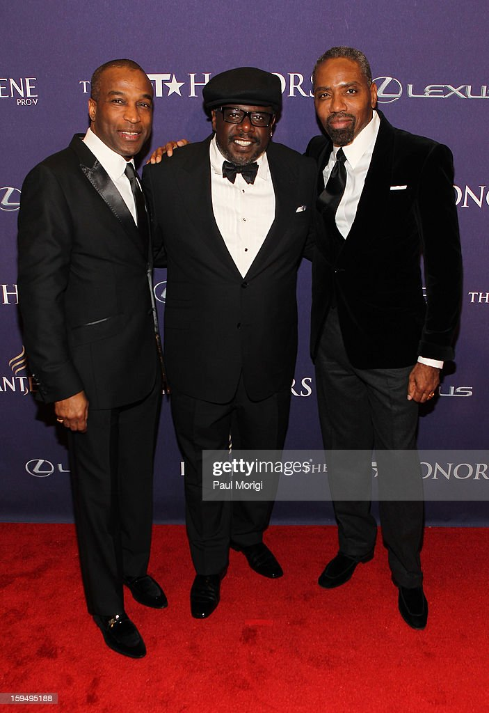 Ray Goulbourne, Cedric the Entertainer and Louis Carr attend BET Honors 2013: Red Carpet Presented By Pantene at Warner Theatre on January 12, 2013 in Washington, DC.