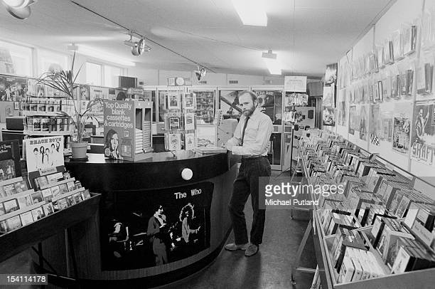 Ray Hammond at the Sounds record shop on King's Road Chelsea London 3rd March 1972