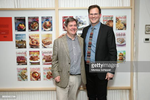 Ray Isle and Hunter Lewis attend the Cooking Light's 30th Anniversary Celebration at The Museum Of Food And Drink In Brooklyn on November 2 2017 in...