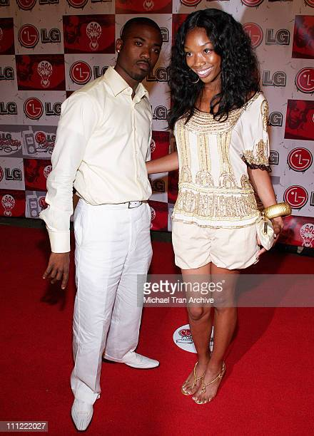Ray J and Brandy during LG Jermaine Dupri Launch New Fusic Arrivals at Day After Nightclub in Hollywood California United States