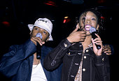 Ray J and Brandy Norwood perform at Life Cafe New York March 19 1997