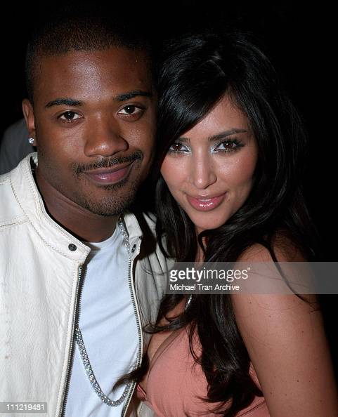 Ray J and Kim Kardashian during Charlotte Ronson's 2006 Fall/Winter Fashion Show and After Party at Roosevelt Hotel in Hollywood California United...