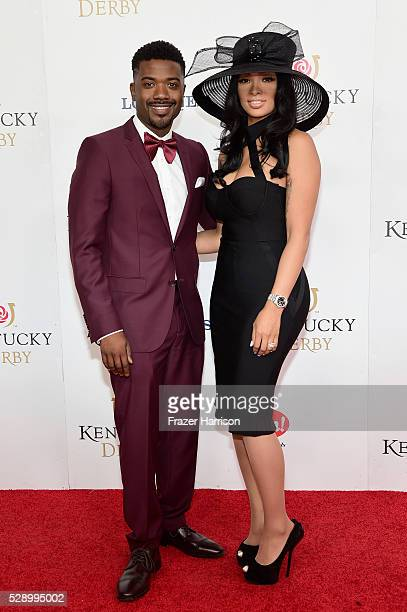 Ray J and Princess Love attend the 142nd Kentucky Derby at Churchill Downs on May 07 2016 in Louisville Kentucky