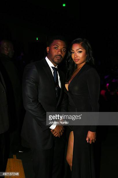 Ray J and Princess Love attend the 2015 BET Hip Hop Awards at Boisfeuillet Jones Atlanta Civic Center on October 9 in Atlanta Georgia