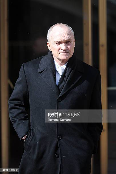 Ray Kelly attends Bob Simon Memorial Service at the Metropolitan Opera House on February 17 2015 in New York City