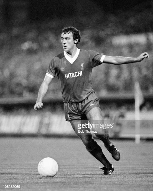 Ray Kennedy in action for Liverpool against Coventry City during their Division One match played at Highfield Road Coventry on 19th August 1980 The...