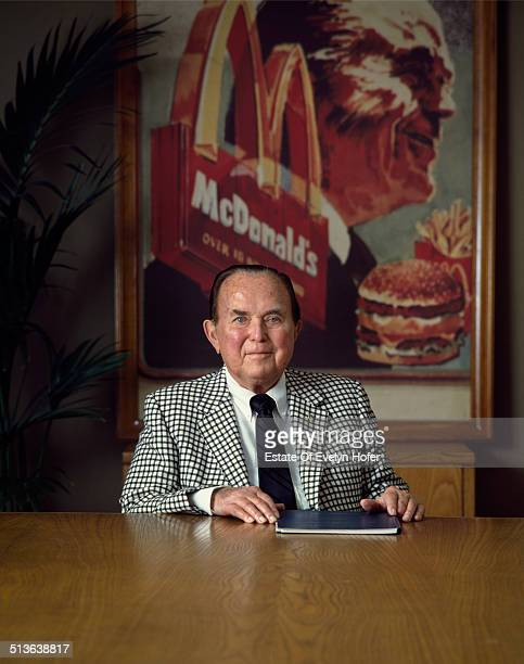 Ray Kroc CEO of McDonald's fast food chain USA circa 1975